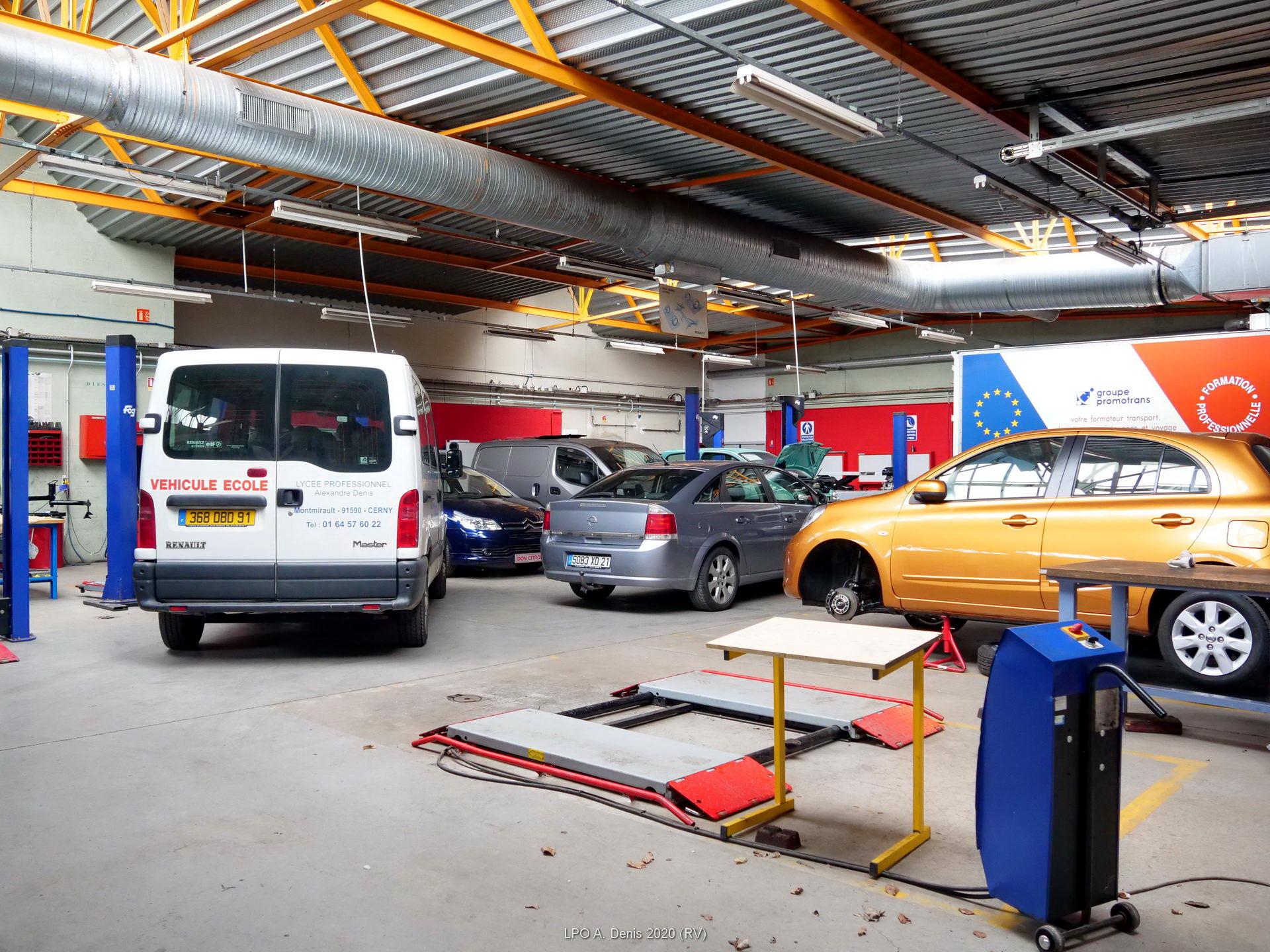 L'atelier mécanique automobile