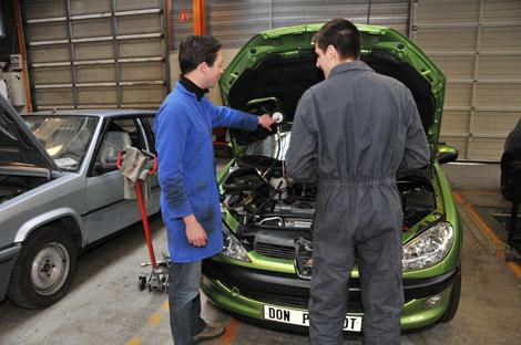 photo de cours en Mécanique auto